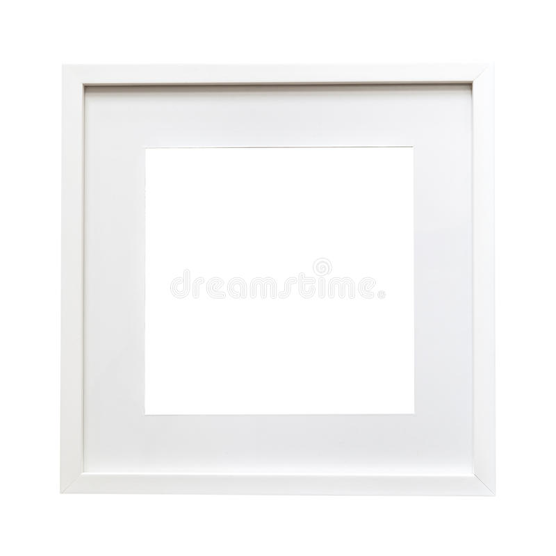 Moquerie blanche d'isolement de cadre  images stock