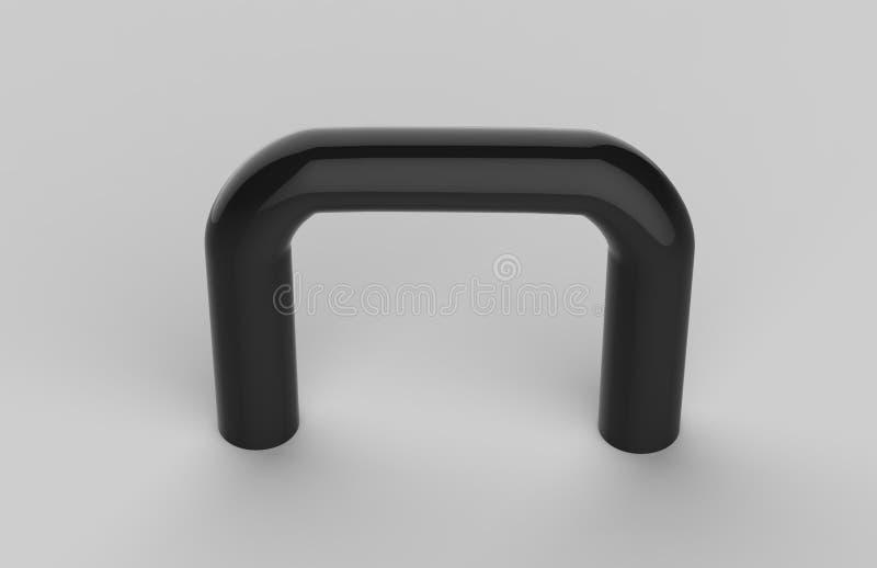 Moquerie d'entreprise de plat de Signage de bureau intérieur en verre transparent vide vers le haut de calibre, illustration 3D illustration libre de droits