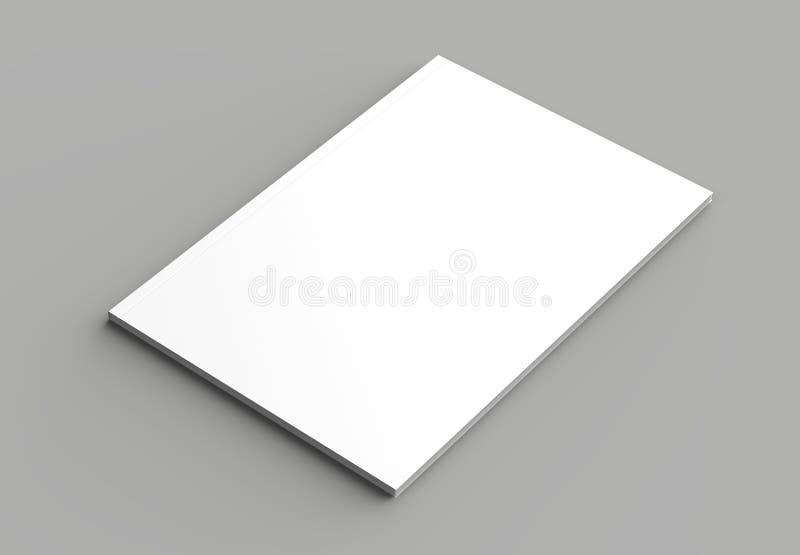 Moquerie de brochure, de magazine, de livre ou de catalogue de couverture souple d'isolement illustration libre de droits