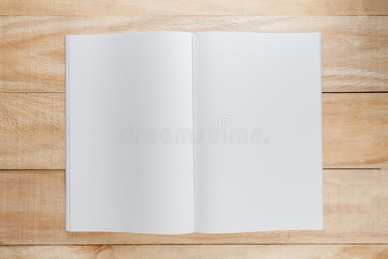 Moquerie de papier blanc ou de livre  photo stock