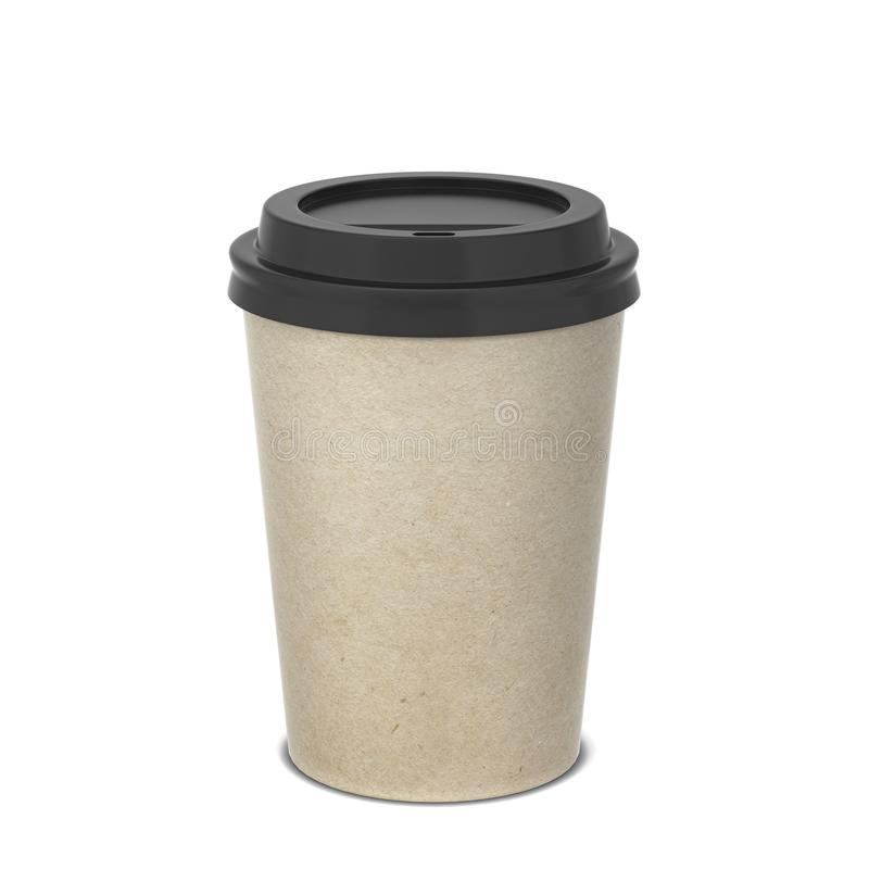 Moquerie de tasse de café de papier blanc  photos stock