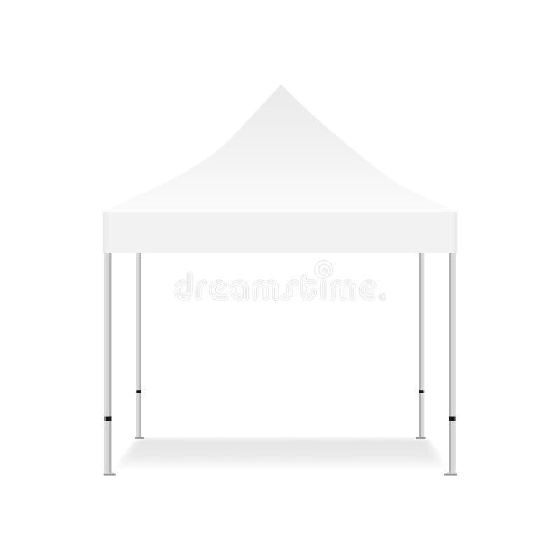 Moquerie extérieure vide de tente  illustration de vecteur