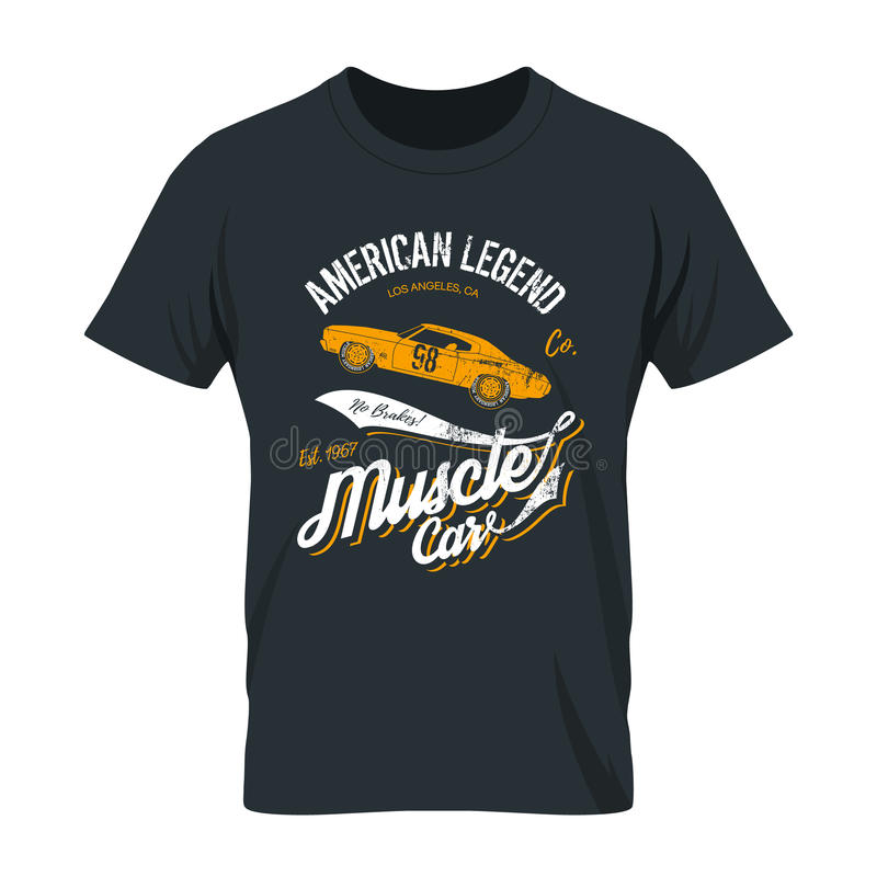 Moquerie minable de T-shirt  illustration stock