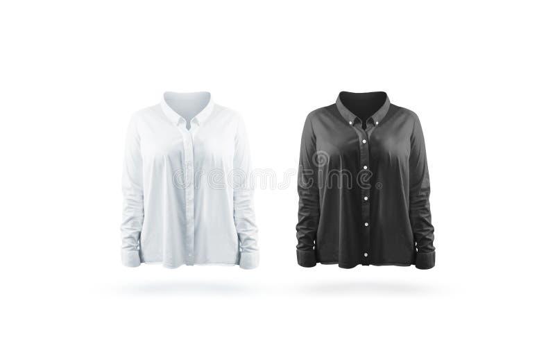 Moquerie noire et blanche vide de chemise de femme établie image stock