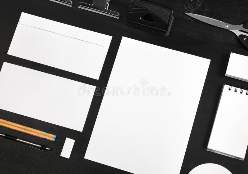 Moquerie stationnaire pour le calibre de conception d'identité photo stock