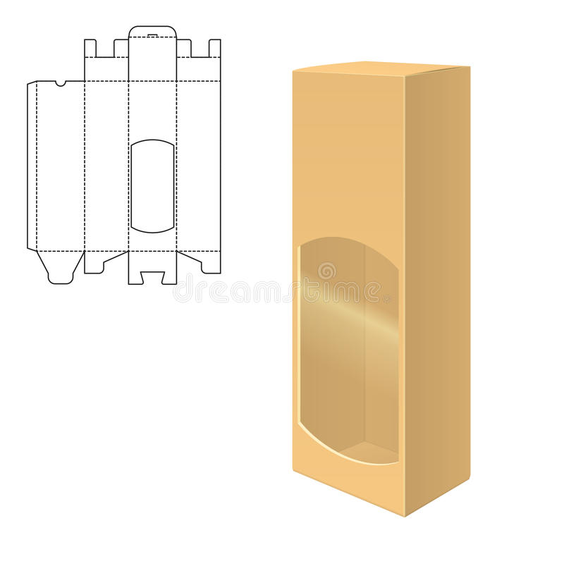Moquerie vers le haut de boîte claire illustration de vecteur