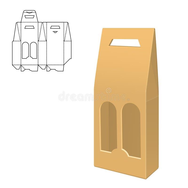 Moquerie vers le haut de boîte claire illustration stock