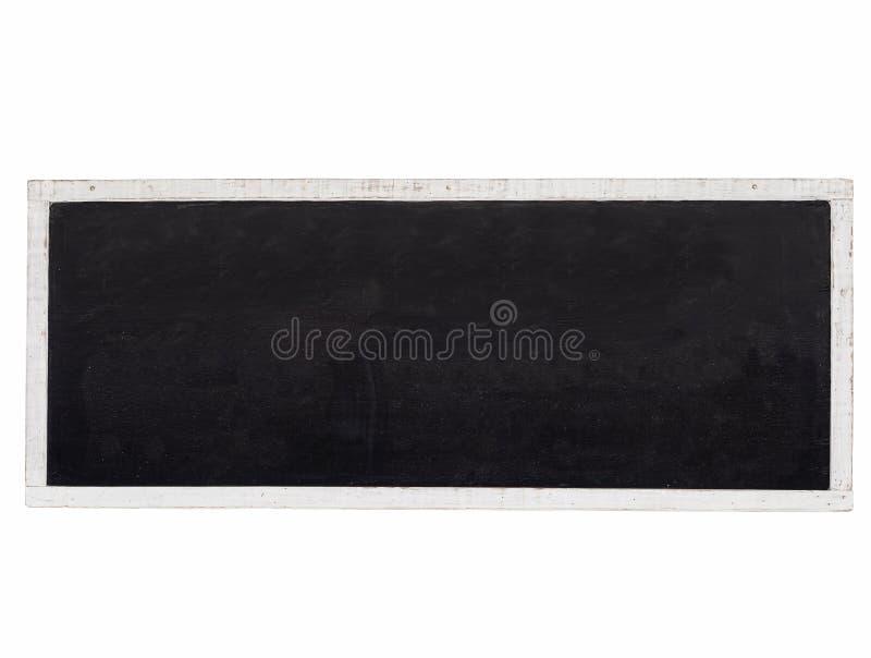 Moquerie vide de fond de tableau noir avec le cadre en bois blanc image libre de droits