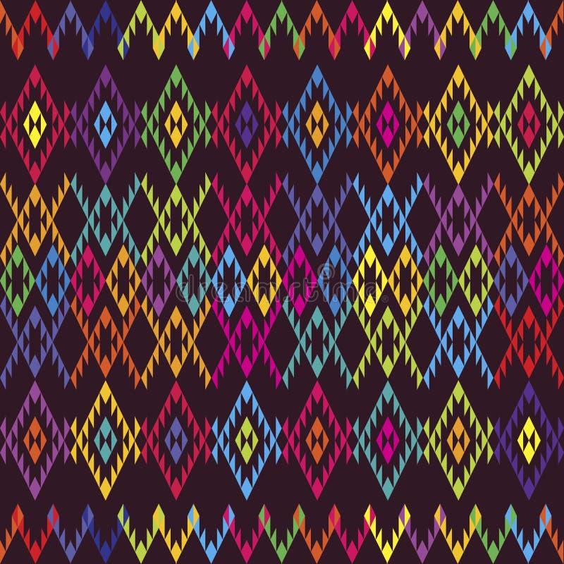 Moquette colorata etnica illustrazione vettoriale