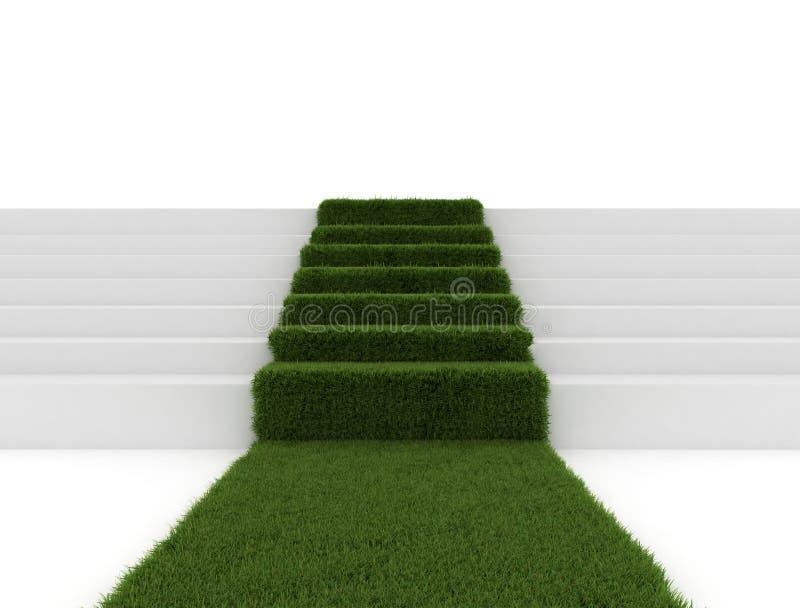 Moquette dell'erba sui punti della scala royalty illustrazione gratis