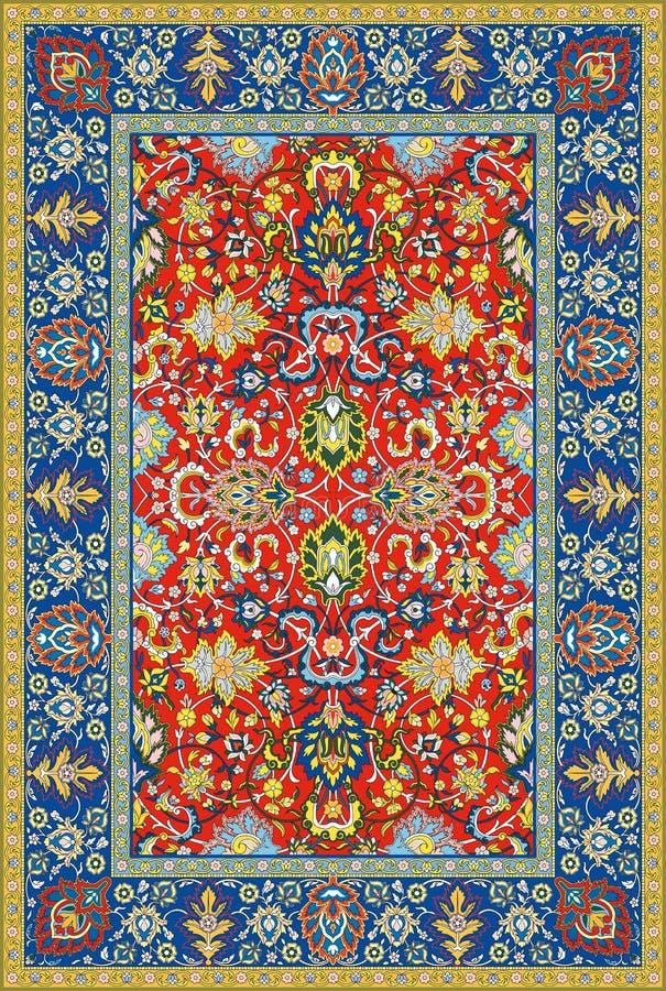 Moquette dettagliata persiana di vettore immagini stock libere da diritti
