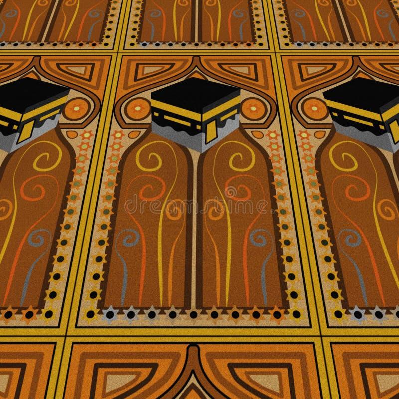 Moquette di preghiera di Kabah fotografie stock