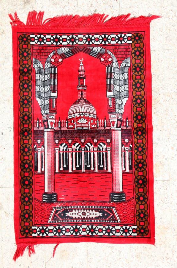 Moquette rossa di preghiera fotografia stock libera da diritti