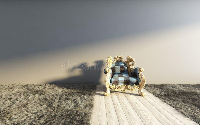 Moquette scura classica royalty illustrazione gratis