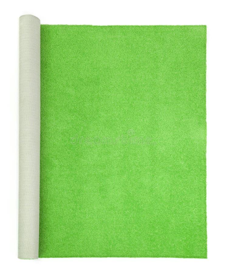Moquette verde - vista superiore immagini stock libere da diritti