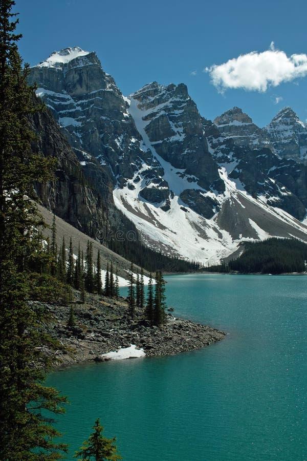 Morän nationalpark för sjö, Banff, Alberta, Kanada royaltyfri fotografi