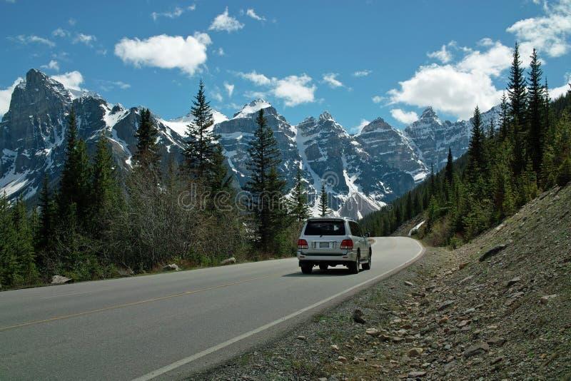 Morän nationalpark för sjö, Banff, Alberta, Kanada royaltyfria foton