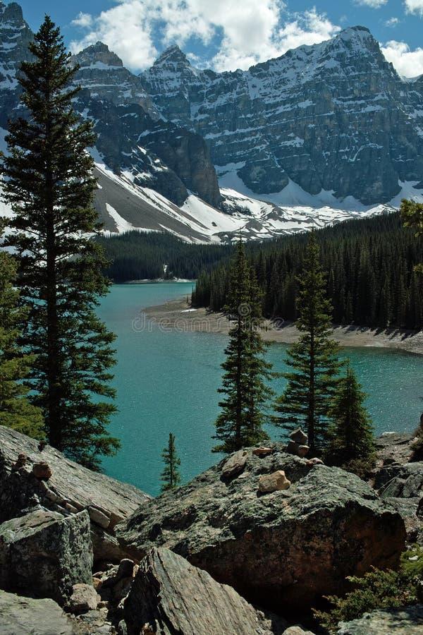 Morän nationalpark för sjö, Banff, Alberta, Kanada arkivbild