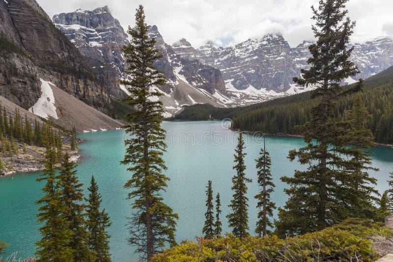 Morän nationalpark för sjö, Banff, Alberta, Kanada arkivbilder