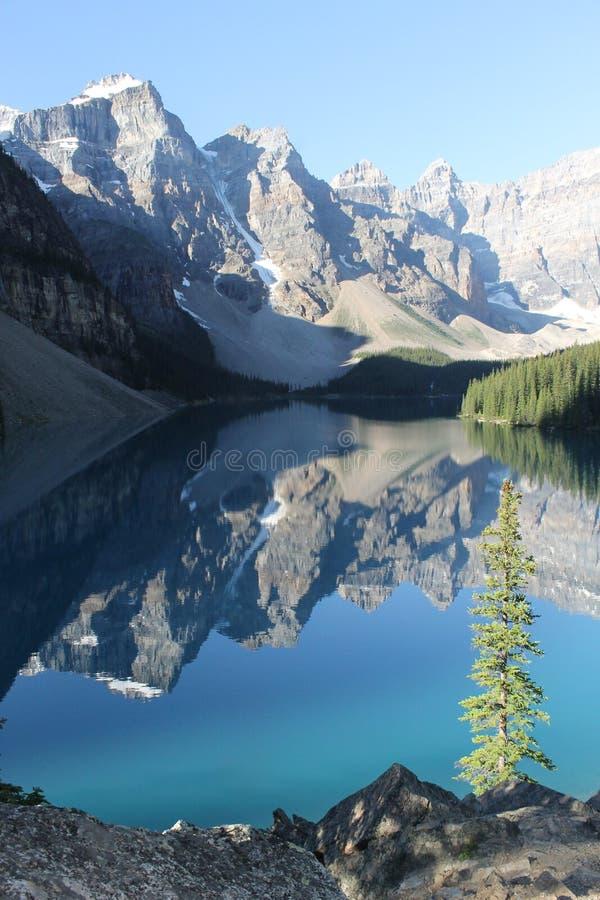 Morän sjö alberta Kanada #3 royaltyfri foto
