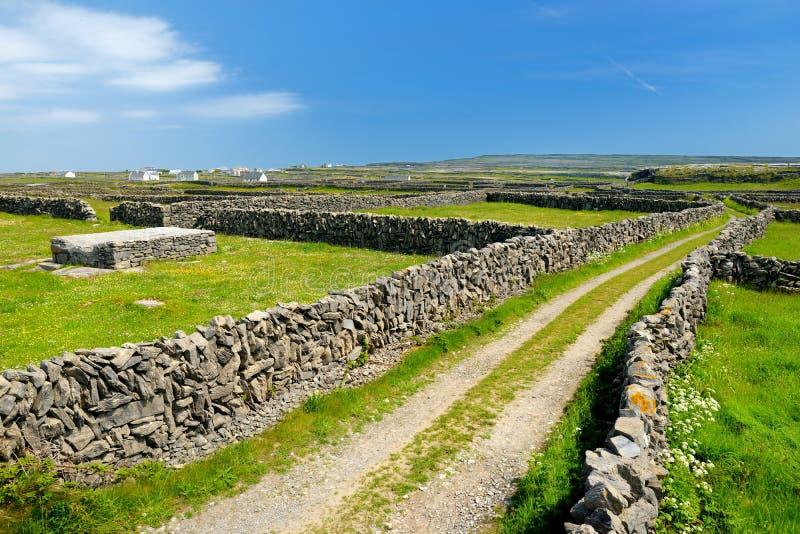 MOR d'Inishmore ou d'Inis, le plus grand d'Aran Islands dans la baie de Galway, Irlande Célèbre pour sa culture irlandaise, fidél photos stock