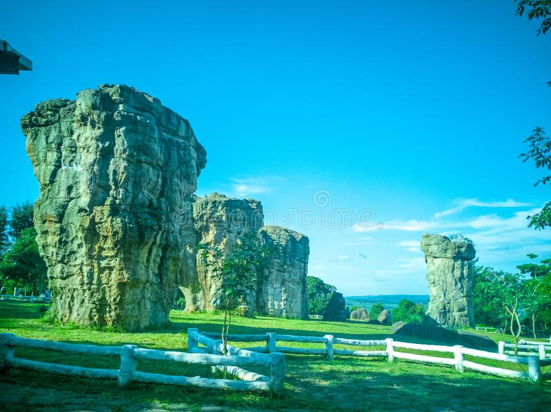 MOR HIN KHAOW. Chaiyaphum province or the Stonehenge of Thailand royalty free stock photos