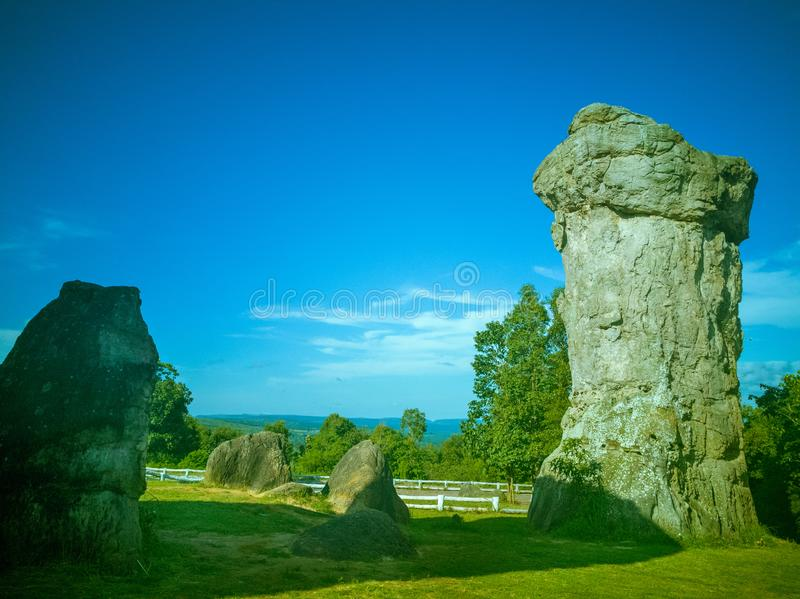 MOR HIN KHAOW. Chaiyaphum province or the Stonehenge of Thailand royalty free stock images