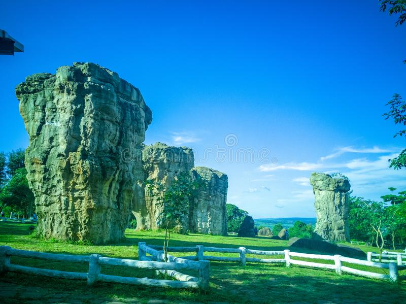 MOR HIN KHAOW. Chaiyaphum province or the Stonehenge of Thailand stock images