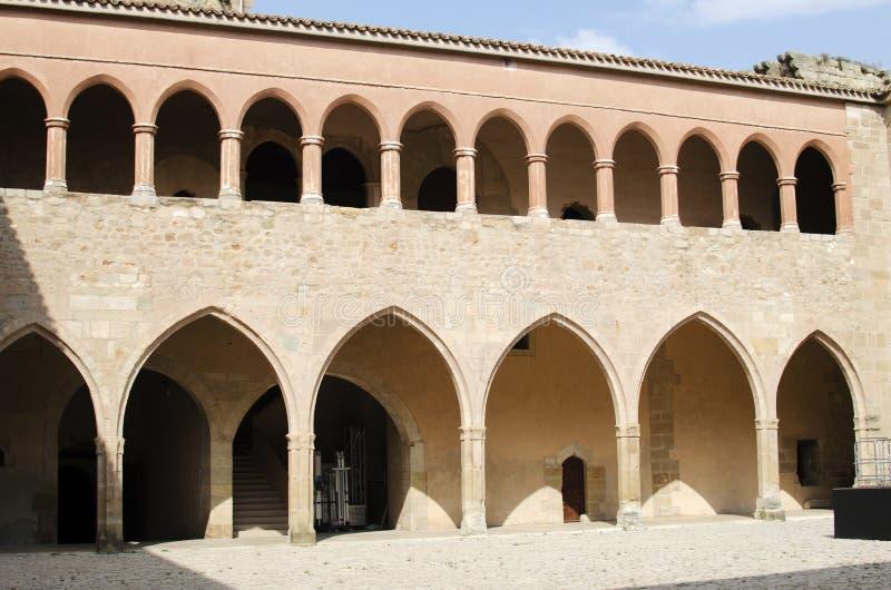 Mora de Rubielos,城堡庭院 库存图片