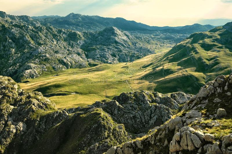 Moraca Mountains in Montenegro royalty free stock image