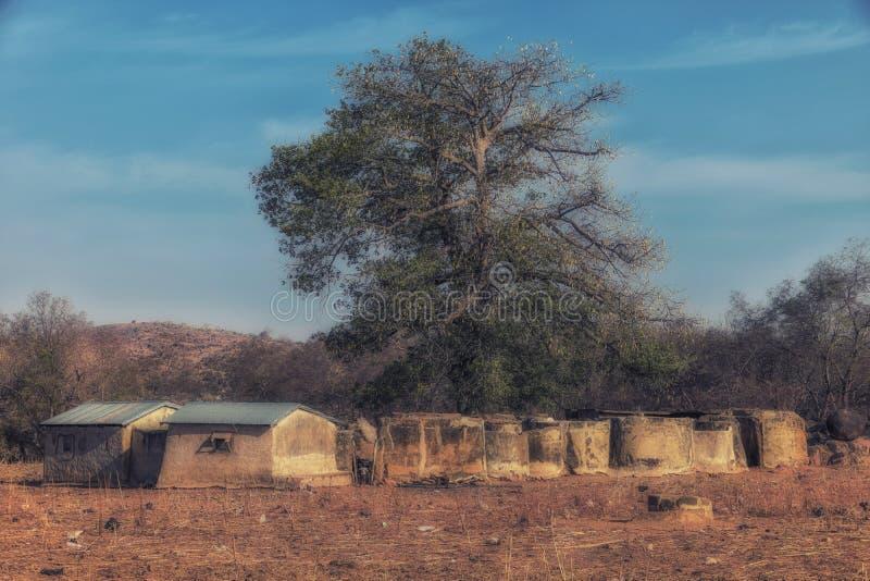 moradia da Multi-sala na vila de Talensi, Gana fotografia de stock royalty free