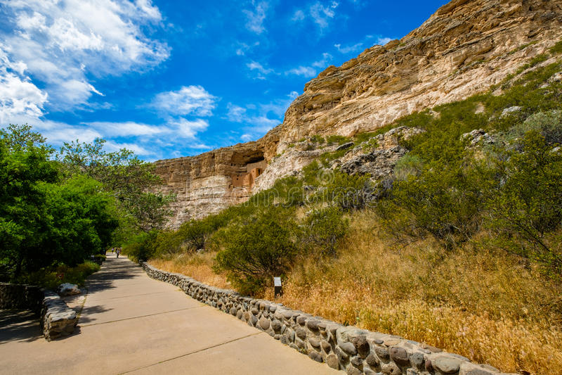 Moradia do castelo de Montezuma foto de stock