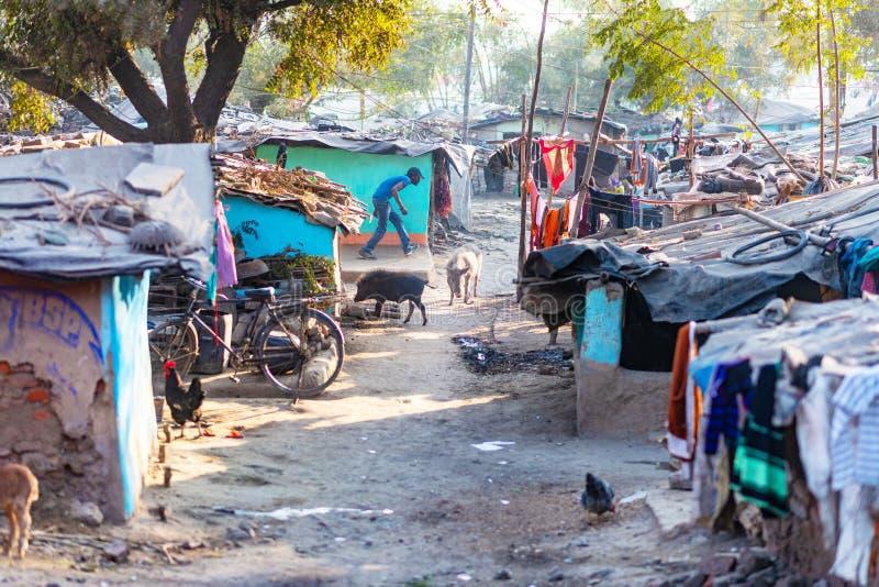 Moradias em Allahabad fotografia de stock royalty free