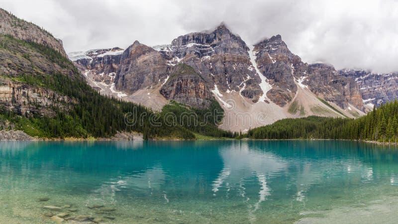 Moraine湖班夫国家公园,亚伯大,加拿大 免版税库存图片
