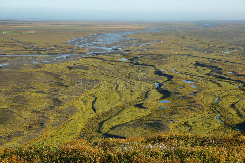 Moraine παγετώνων Skaftafellsjokull στοκ εικόνες με δικαίωμα ελεύθερης χρήσης