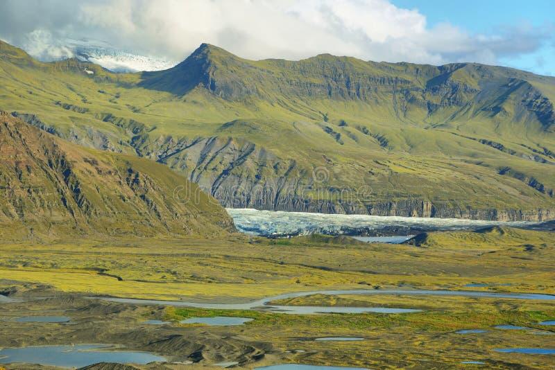 Moraine da geleira de Skaftafellsjokull imagens de stock royalty free
