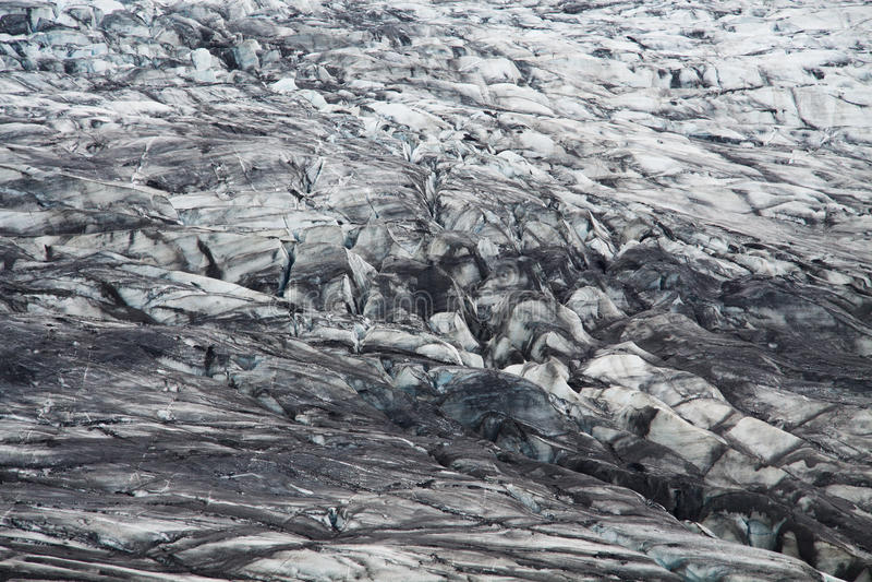 Moraine de glacier de Skaftafellsjokull, Islande photos libres de droits