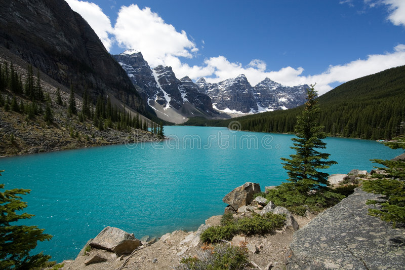 Moraine de lac photo libre de droits