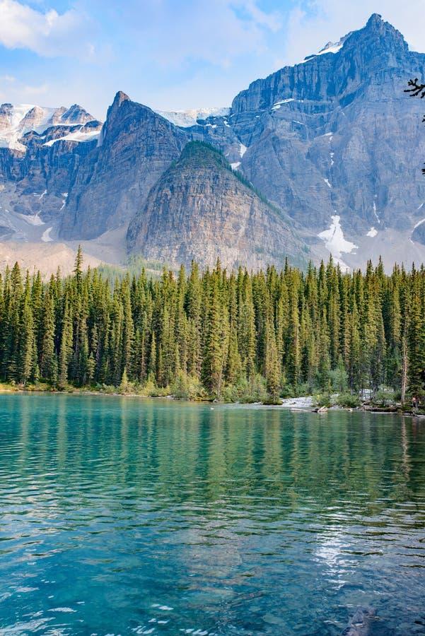 Moraine de lac, parc national de Banff, Alberta, Canada photo stock