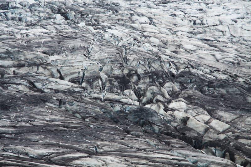 Moraine del ghiacciaio di Skaftafellsjokull, Islanda fotografie stock libere da diritti