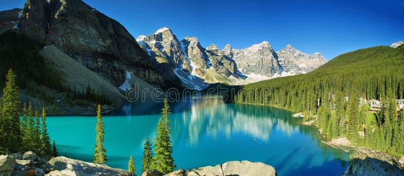 Moraine do lago, parque nacional de Banff foto de stock royalty free