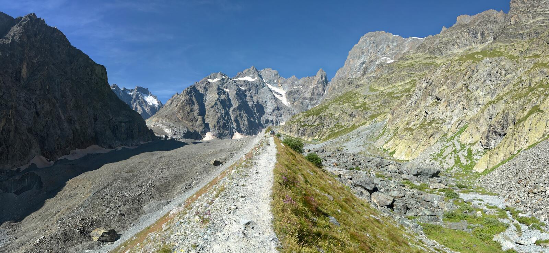 The Moraine of the Glacier Noir stock images