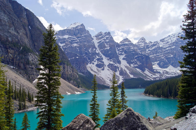 Moraine Lake. Picturesque view of Moraine Lake, Banff National Park, Canada stock photos