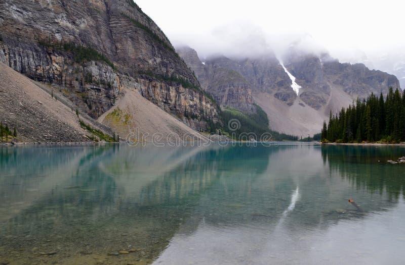 Moraine Lake in Alberta royalty free stock photo