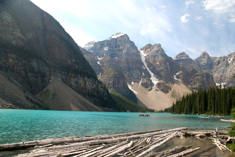 Moraine lake, Canada stock image