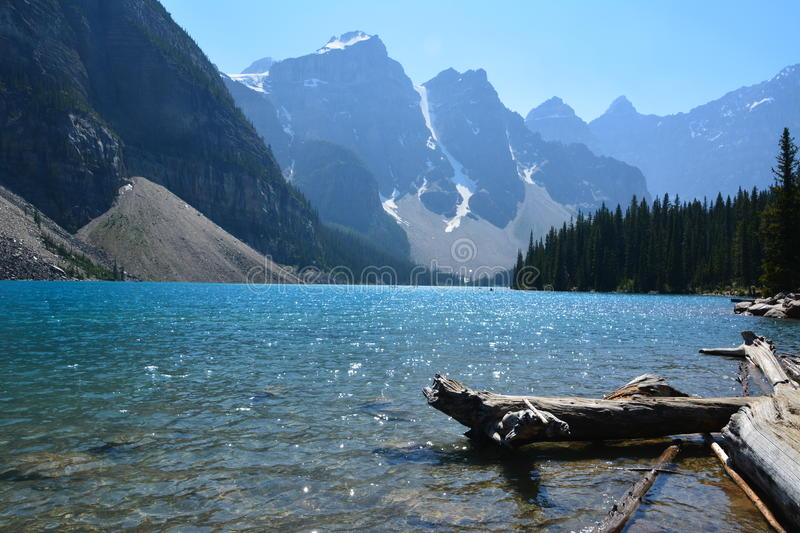 Moraine Lake Canada. Moraine lake in the summer, Banff national park Canada stock images