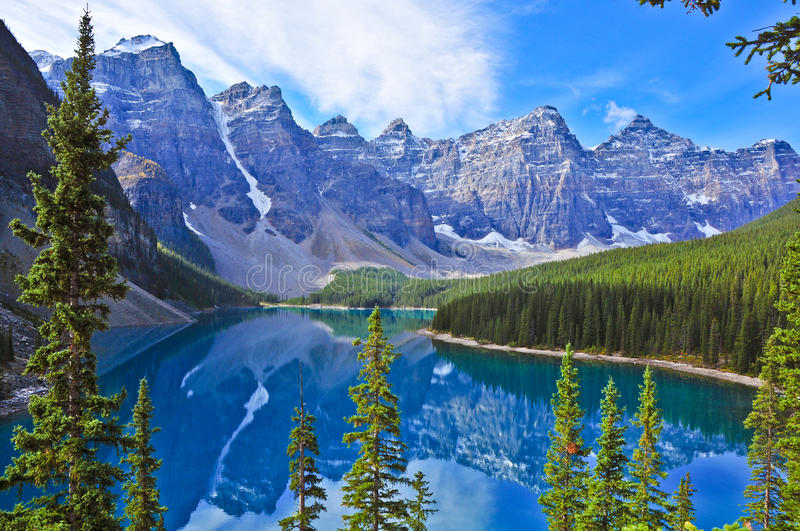 Moraine lake royalty free stock images