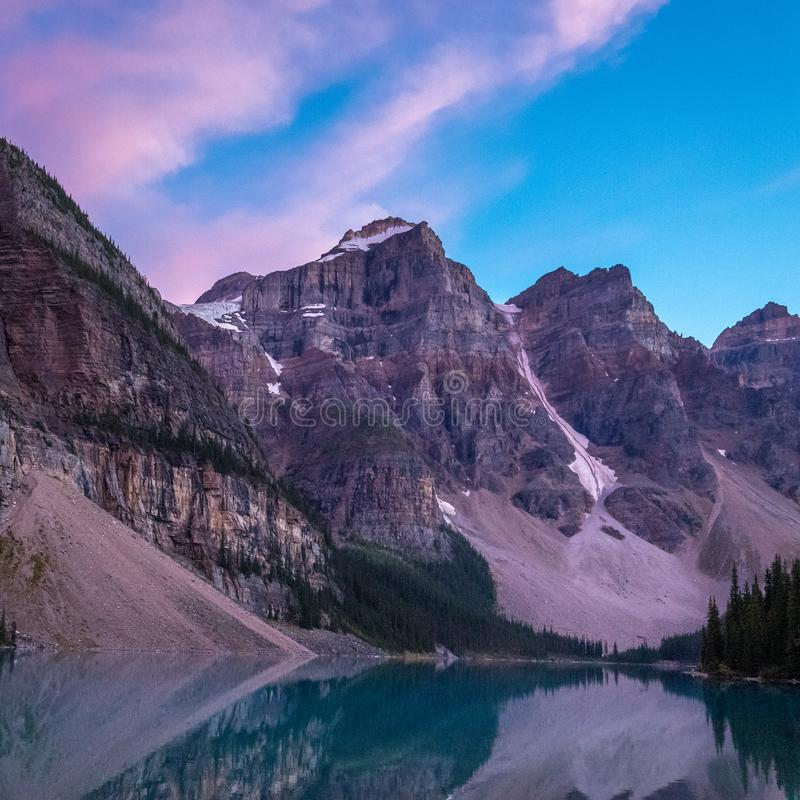 Moraine Lake after Sunset royalty free stock image