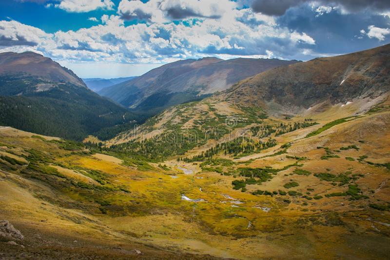 Moraine Park, Rocky Mountain National, Park, Colorado. Overlook at the Moraine Park, Rocky Mountain National, Park, Colorado, USA royalty free stock photo