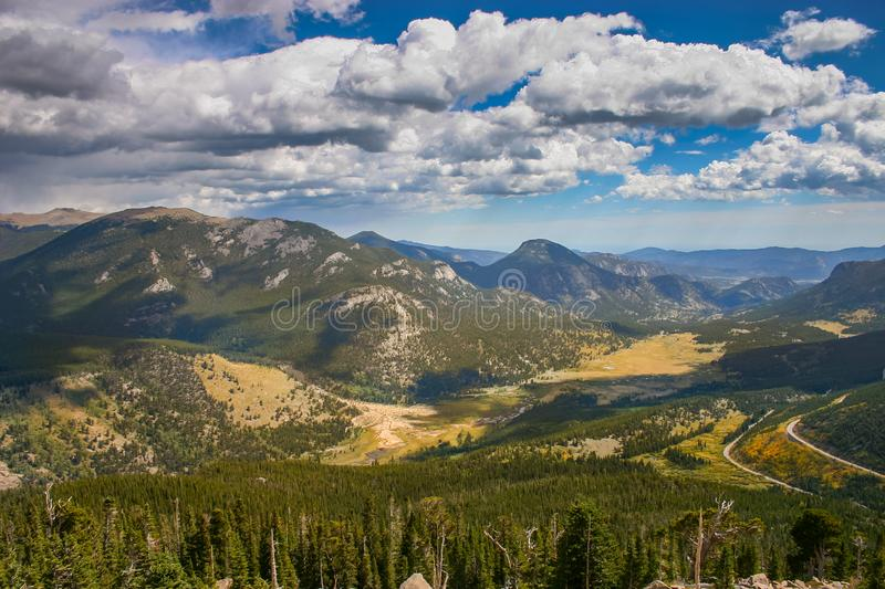 Moraine Park, Rocky Mountain National, Park, Colorado. Overlook at the Moraine Park, Rocky Mountain National, Park, Colorado, USA stock photography
